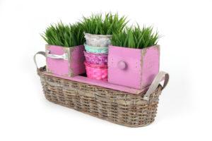 Weidenkorb, dekoriert